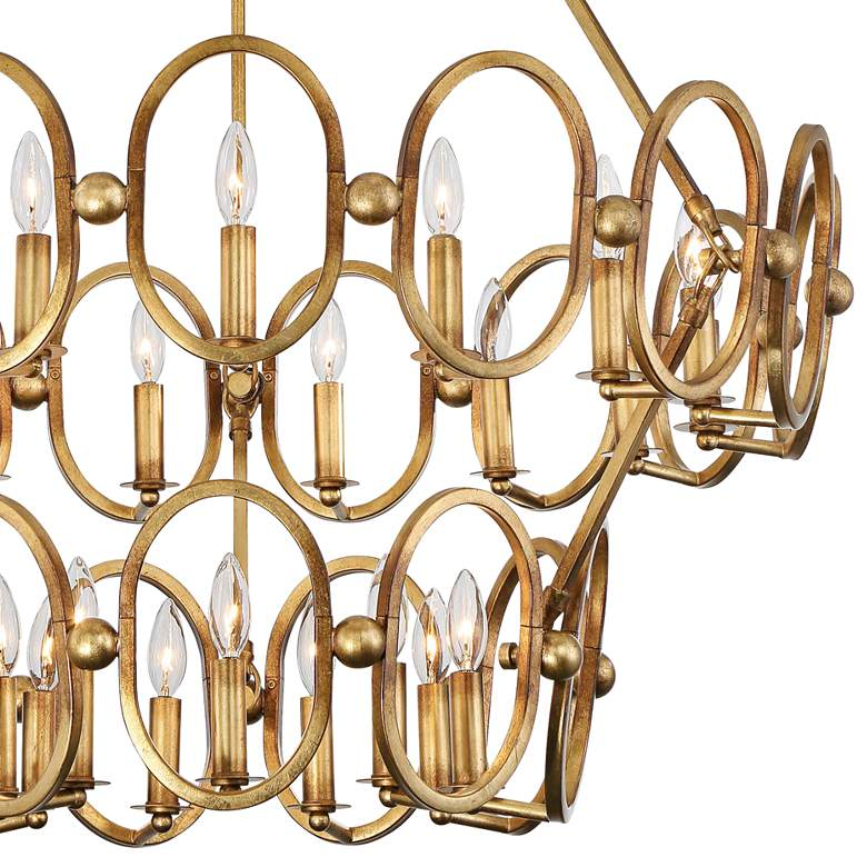 "Clairpointe 37 1/2""W 24-Light Pandora Gold Leaf Chandelier more views"