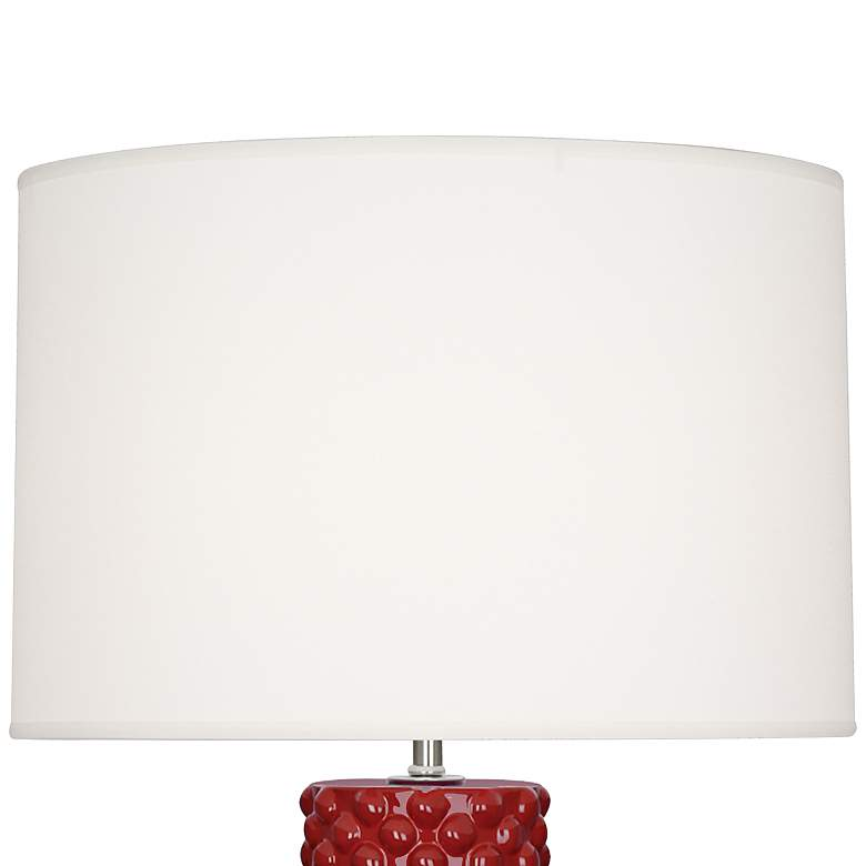 Robert Abbey Dolly Oxblood Red Ceramic Table Lamp more views
