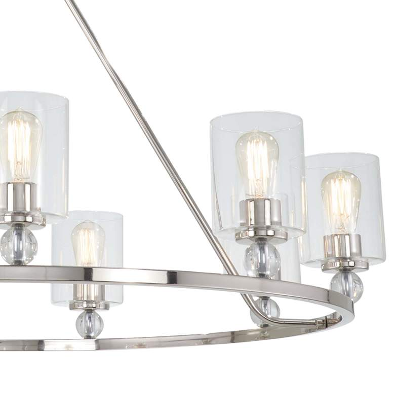"Studio 5 45"" Wide Polished Nickel 9-Light Chandelier more views"