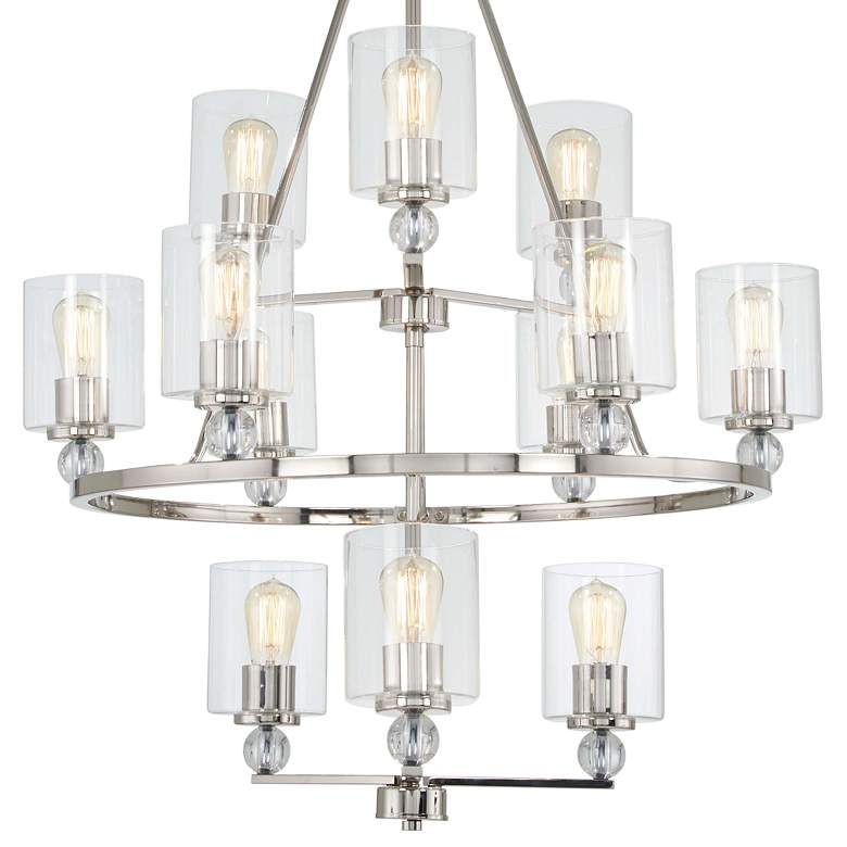 "Studio 5 32"" Wide Polished Nickel 12-Light Chandelier more views"