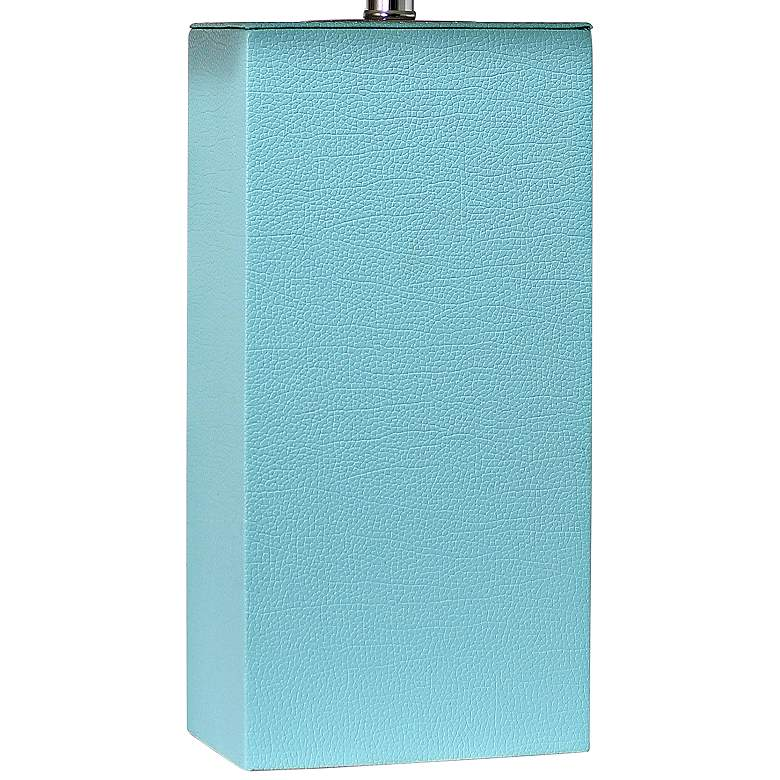 Elegant Designs Aqua Blue Leather Table Lamps Set of 2 more views