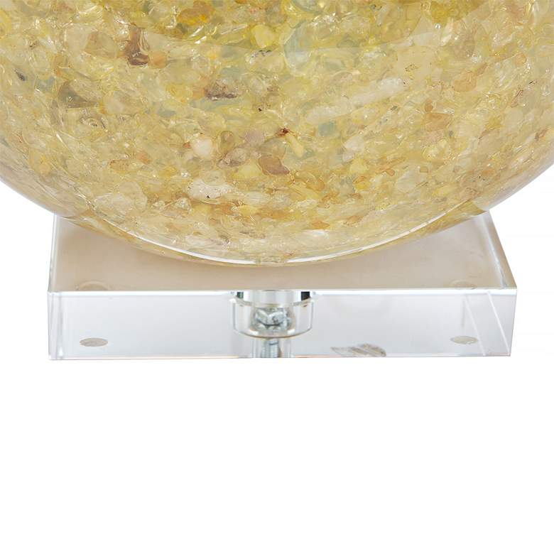 Couture Jamison Natural Yellow Quartz Table Lamp more views