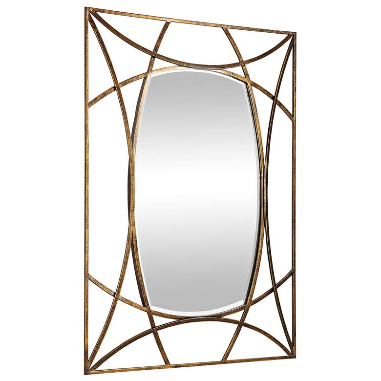 "Abreona Gold Leaf 31 1/4"" x 43 1/4"" Rectangular Wall Mirror more views"
