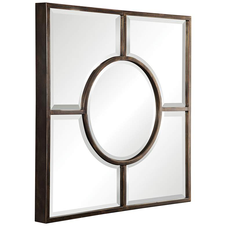 "Uttermost Baeden Dark Bronze 36"" Square Wall Mirror more views"
