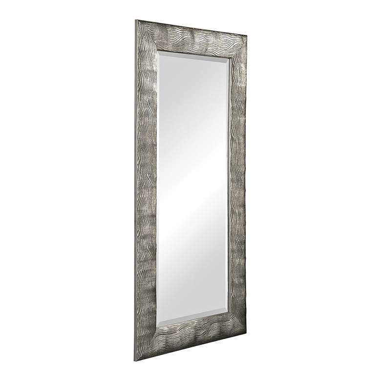 "Uttermost Maeona Metallic Silver 30"" x 60"" Wall Mirror more views"