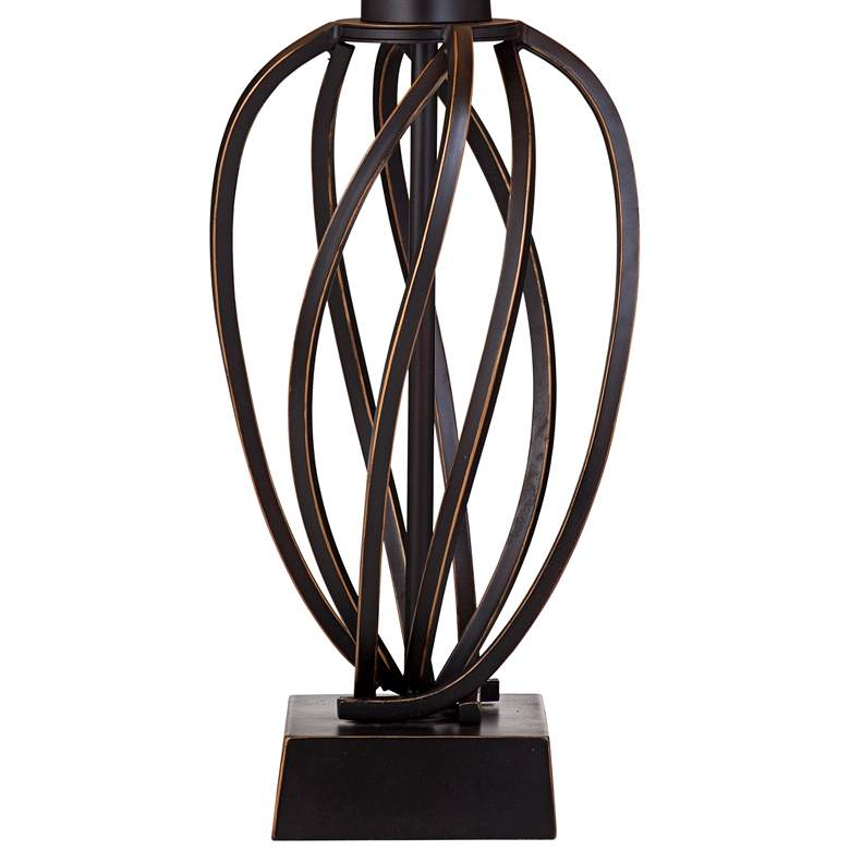 Orson Bronze Metal Spiraled Table Lamp more views