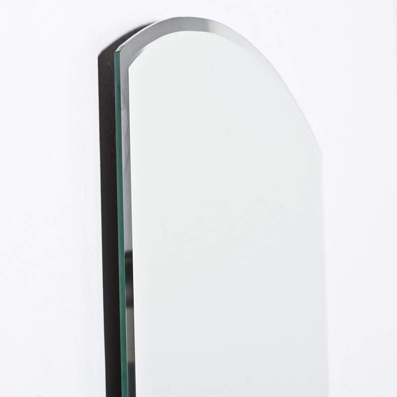 "Katherine Modern 23 1/2"" x 31 1/2"" Arch Wall Mirror more views"