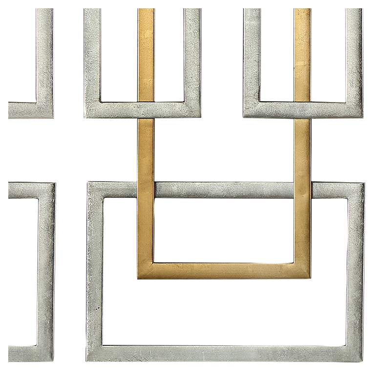 "Uttermost Aerin 50 3/4""H Geometric Metal Wall Art Set of 2 more views"