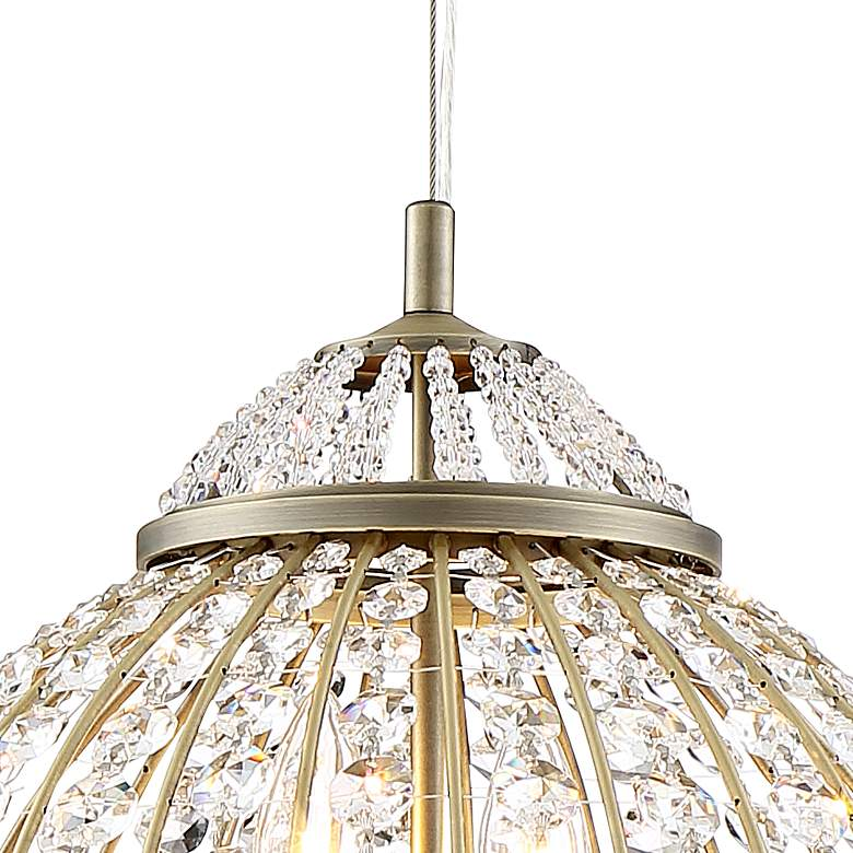 "Emelia 19 3/4"" Wide Antique Brass and Crystal Pendant Light more views"