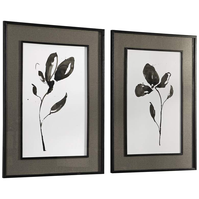 "Solitary Sumi-e 41 3/4"" High 2-Piece Framed Wall Art Set more views"