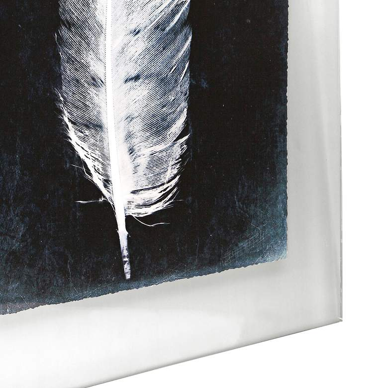 "Inverted Feathers 33"" High 3-Piece Framed Wall Art Set more views"