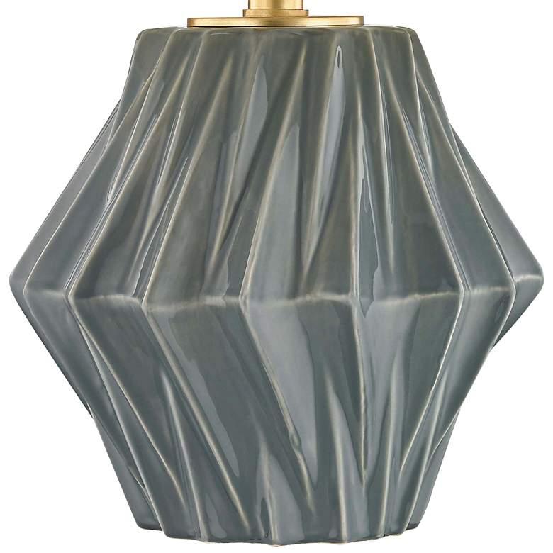 Hudson Valley Bertram Dark Gray Porcelain Table Lamp more views