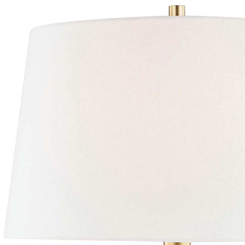 Hudson Valley Bertram Glossy White Porcelain Table Lamp more views