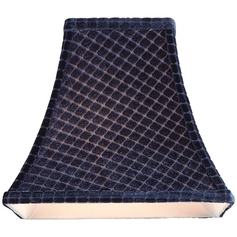 Starke Blue Square Bell Lamp Shade 5x10x9.5 (Spider) more views