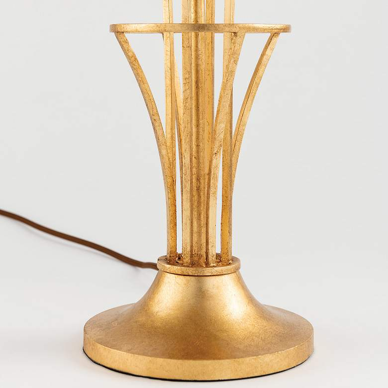 Hudson Valley Hurley Gold Leaf Floor Lamp more views