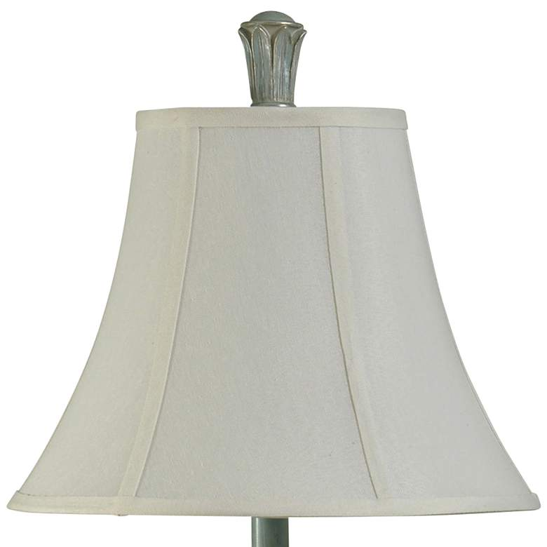 Cibali Blue Table Lamp with White Softback Fabric Shade more views