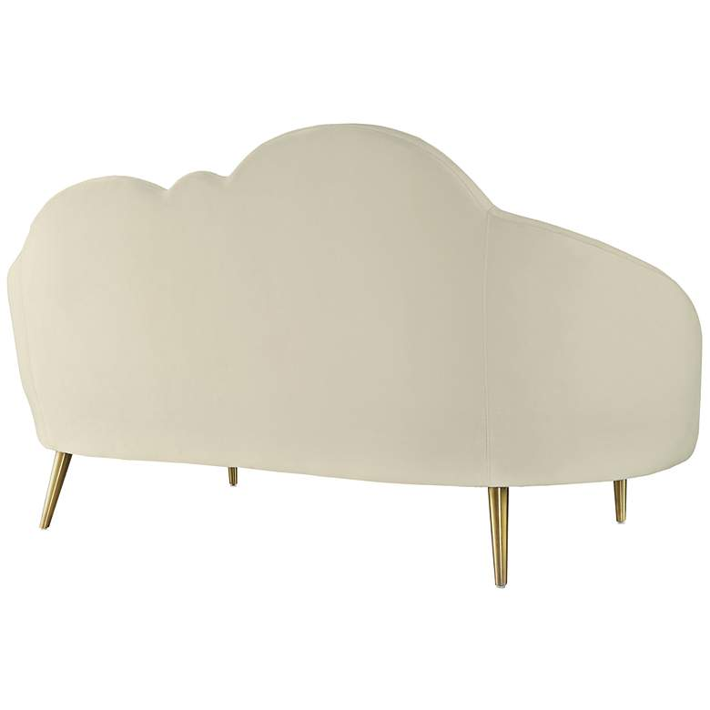 Cloud Cream Velvet and Gold Settee more views