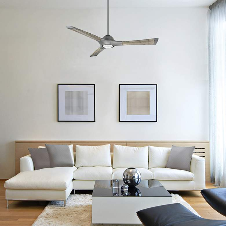 "60"" Modern Forms Woody Graphite LED Wet Ceiling Fan more views"