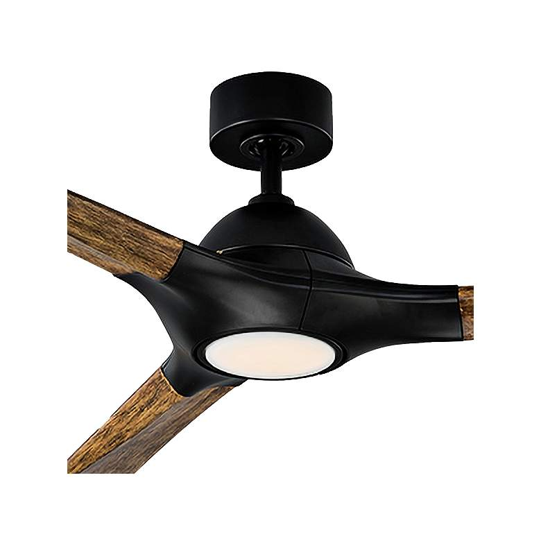 "60"" Modern Forms Woody Matte Black LED Wet Ceiling Fan more views"