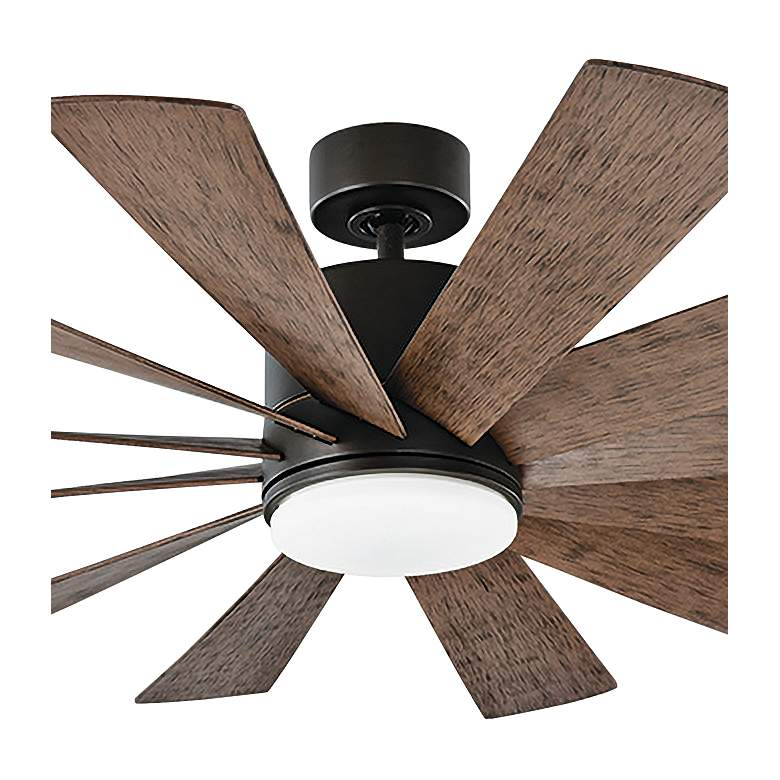 "60"" Modern Forms Windflower Bronze Wet LED Ceiling Fan more views"