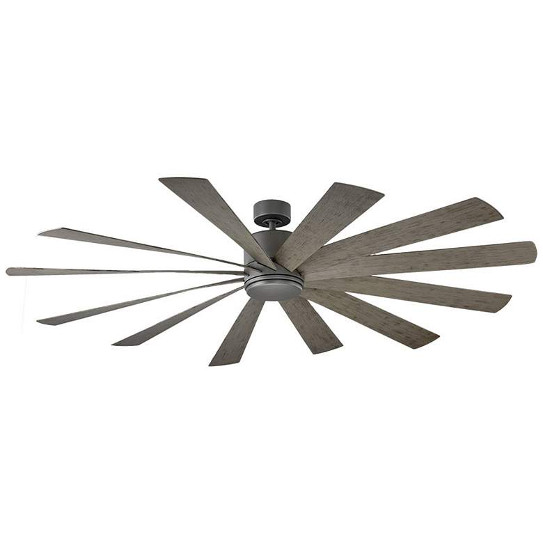 "80"" Modern Forms Windflower Graphite LED Wet Ceiling Fan more views"