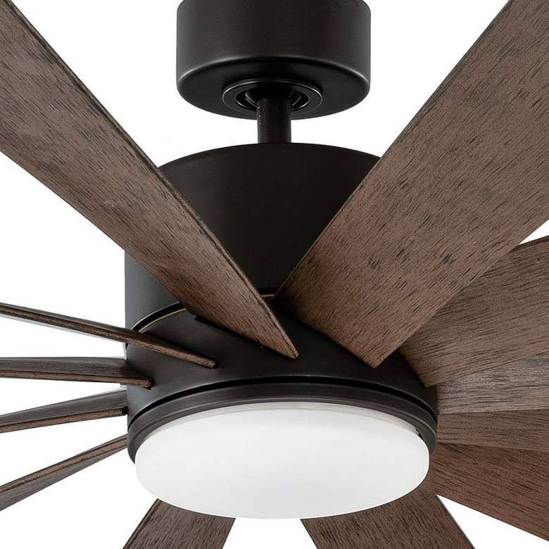 "80"" Modern Forms Windflower Bronze LED Damp Ceiling Fan more views"