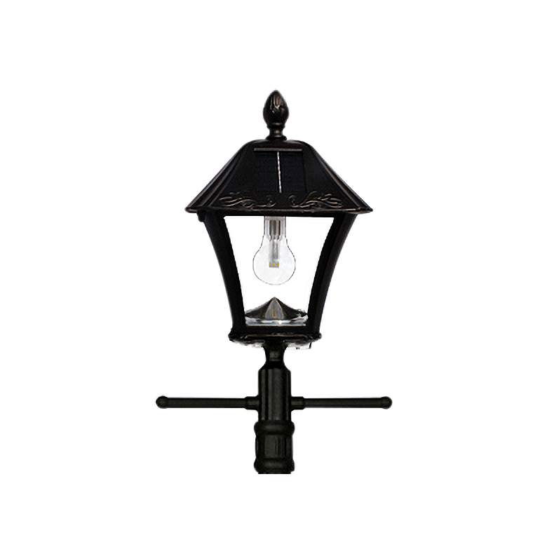 "Baytown 77""H Bronze Solar LED Outdoor Post Light w/ Planter more views"