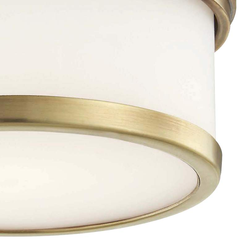 "Hudson Valley Gemma 5"" Wide Aged Brass LED Ceiling Light more views"