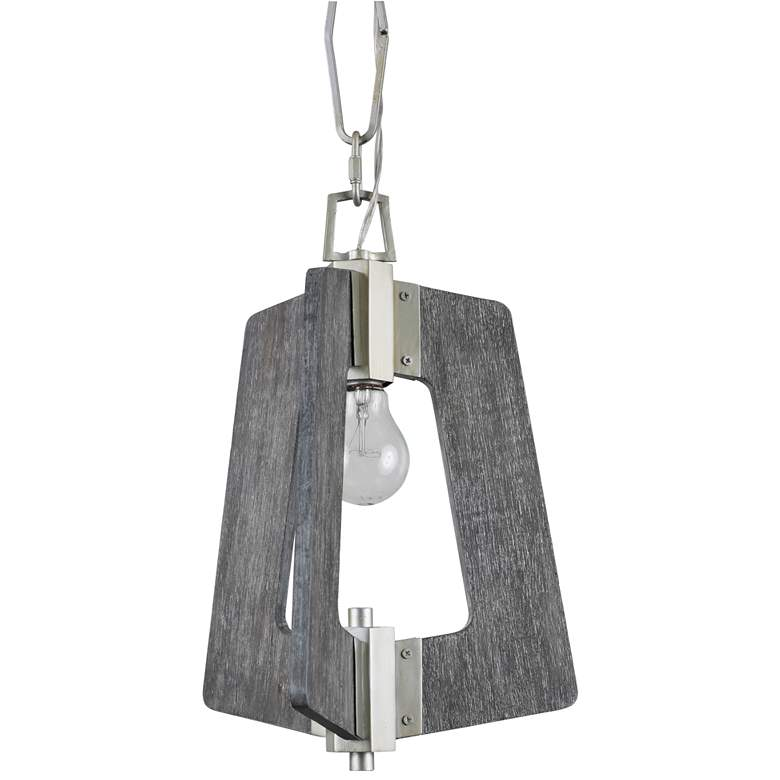 "Varaluz Lofty 11 1/2"" Wide Silverado and Gray Mini Pendant more views"