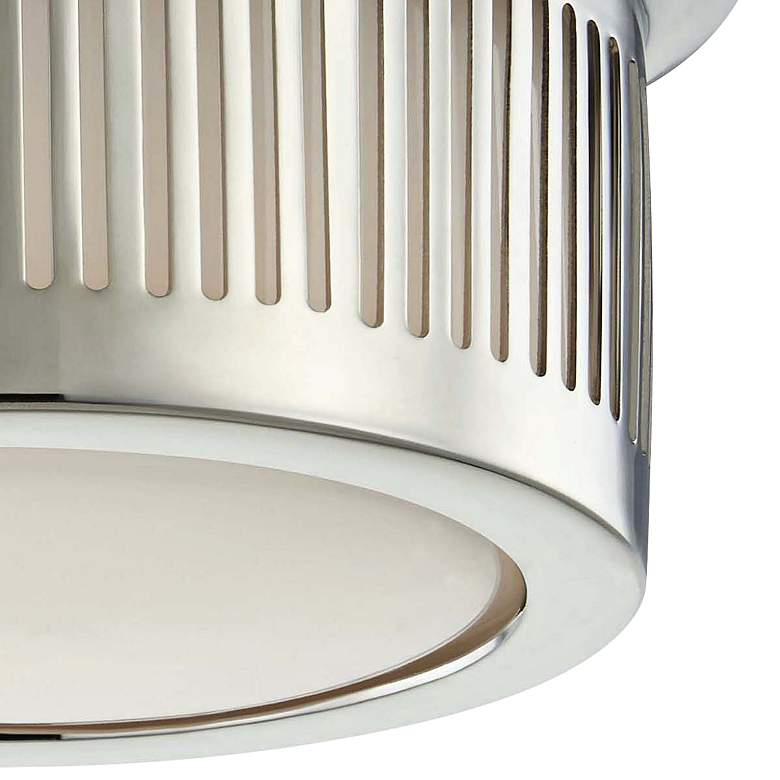 "Hudson Valley Bangor 6""W Polished Nickel LED Ceiling Light more views"