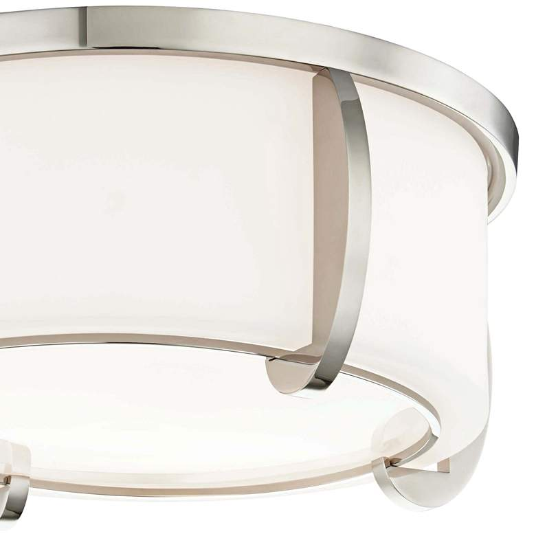 "Hudson Valley Talon 12 3/4""W Polished Nickel Ceiling Light more views"