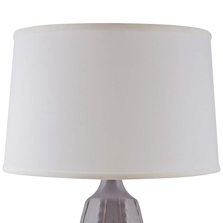 RiverCeramic Dotty Gloss Swanky Gray Table Lamp more views