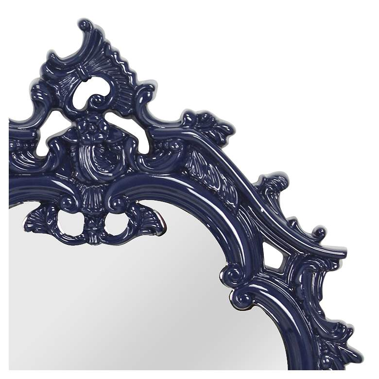 "Victorian Cobalt Blue 22 1/4"" x 35"" Framed Wall Mirror more views"