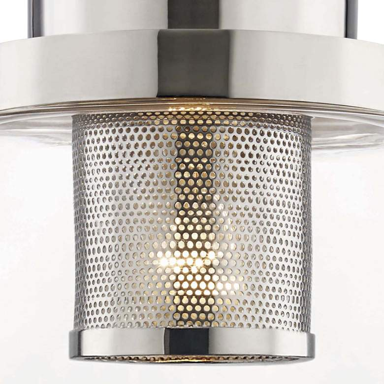 "Hudson Valley Paoli 15 1/4"" High Polished Nickel Wall Sconce more views"