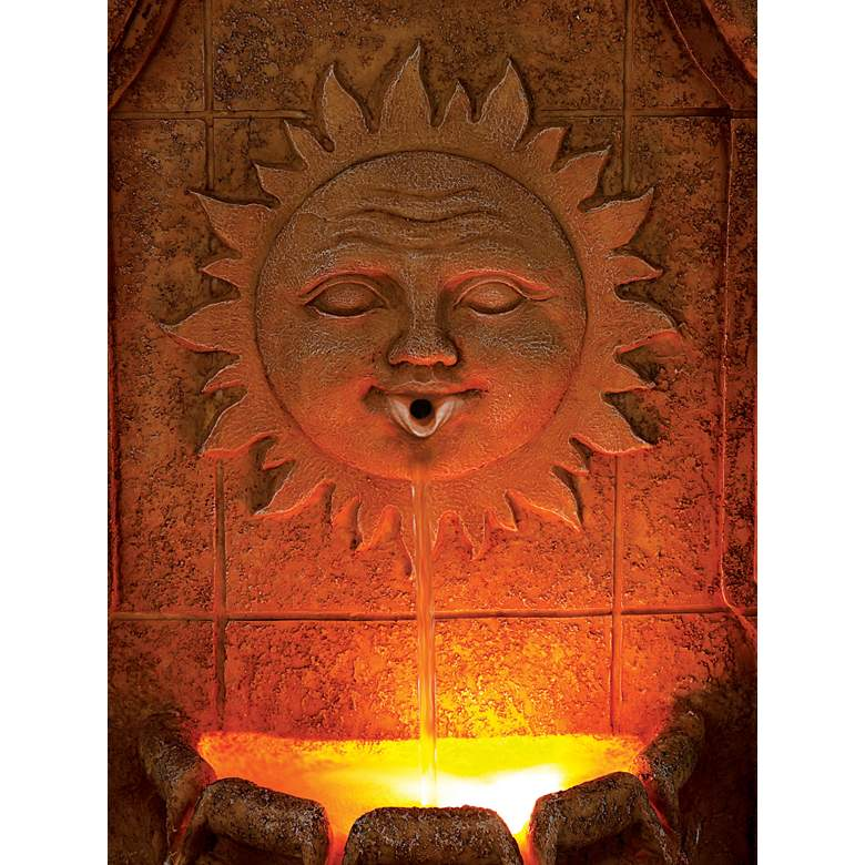"Sun Villa Faux Stone 37""H Outdoor Fountain with LED Lights more views"