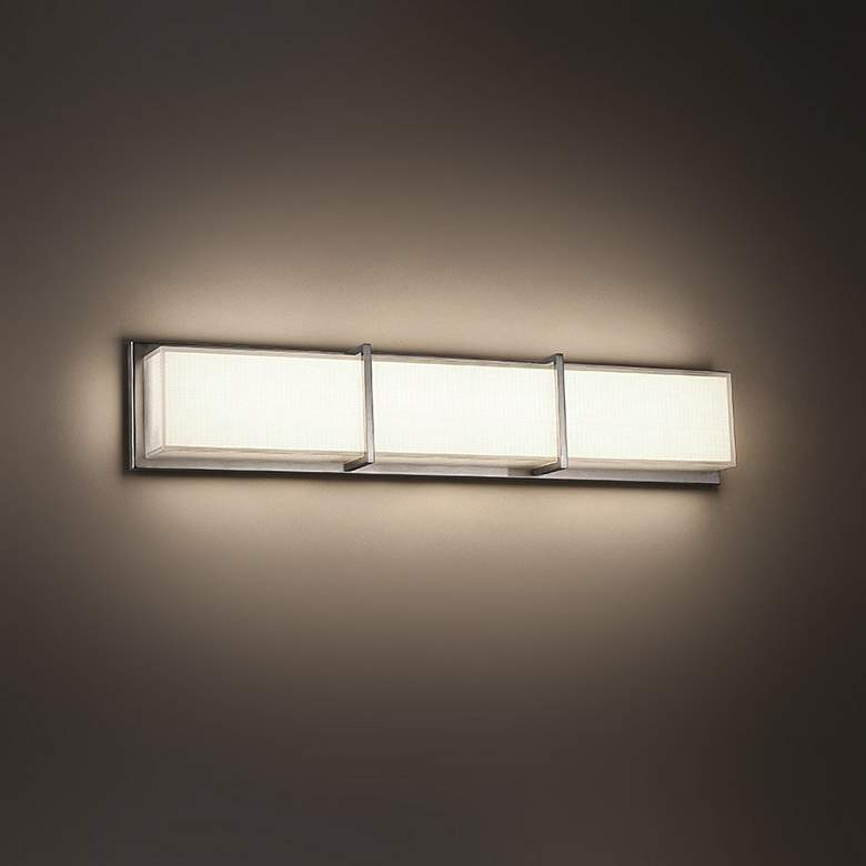 "Modern Forms Bahn 26"" Wide Brushed Nickel LED Bath Light more views"