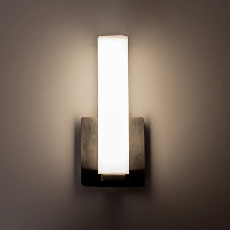 "Modern Forms Vogue 11"" High Brushed Nickel LED Wall Sconce more views"