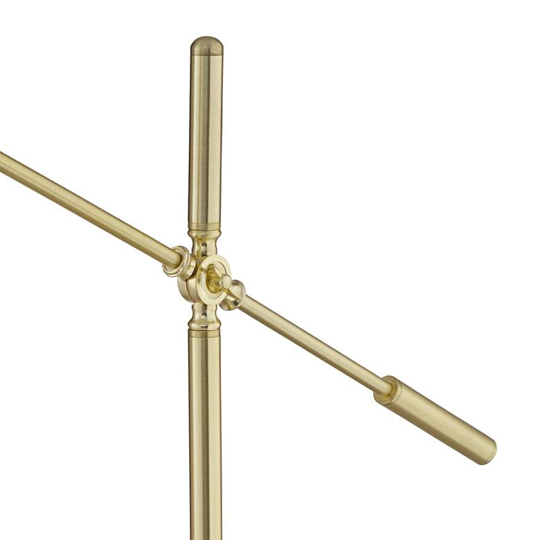 OttLite Archer Satin Brass LED Pharmacy Task Floor Lamp more views