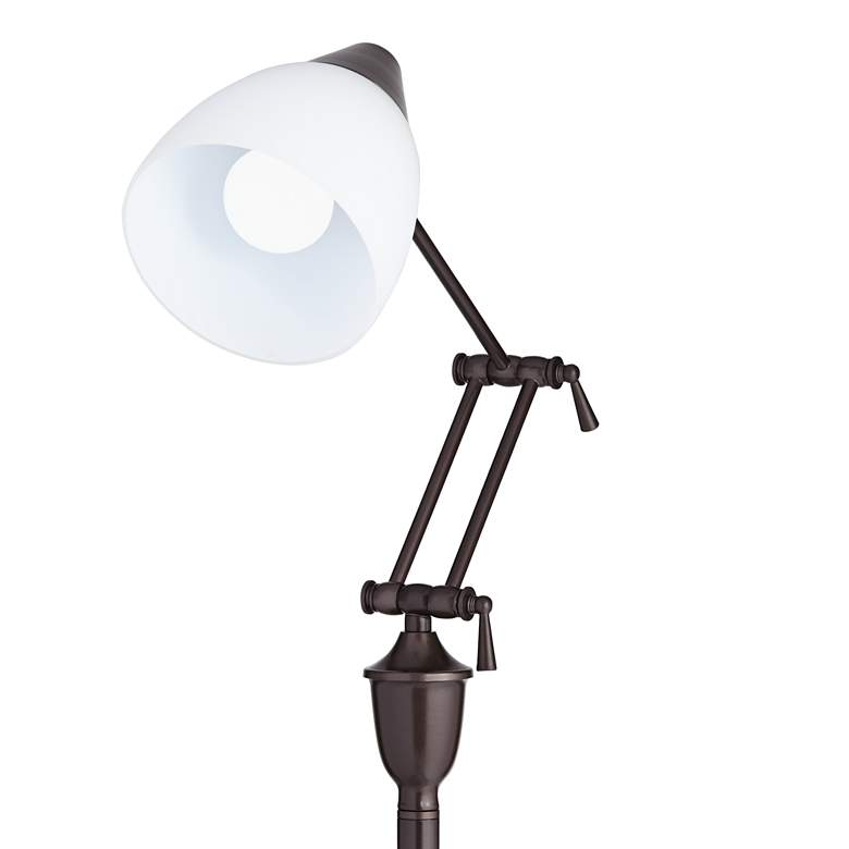 OttLite Webster Oil-Rubbed Bronze Adjustable Task Floor Lamp more views