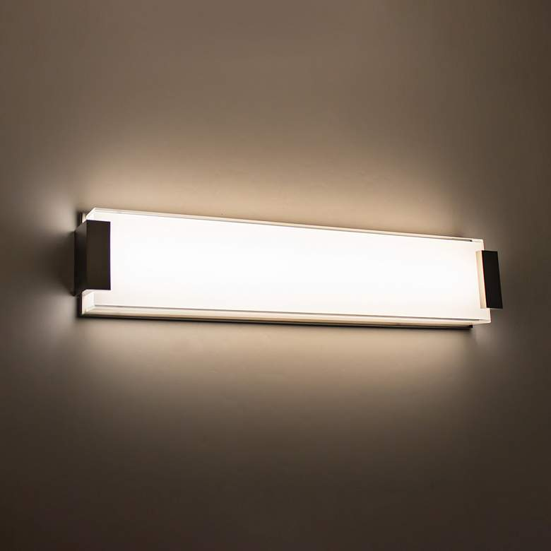 "Modern Forms Polar 26"" Wide Brushed Nickel LED Bath Light more views"