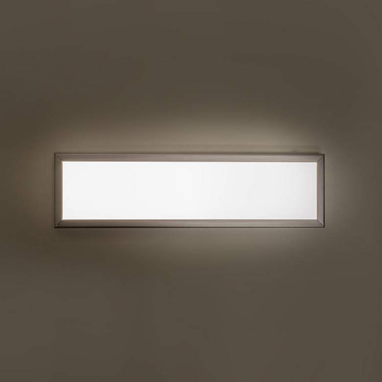 "Modern Forms Neo 24"" Wide Brushed Aluminum LED Bath Light more views"