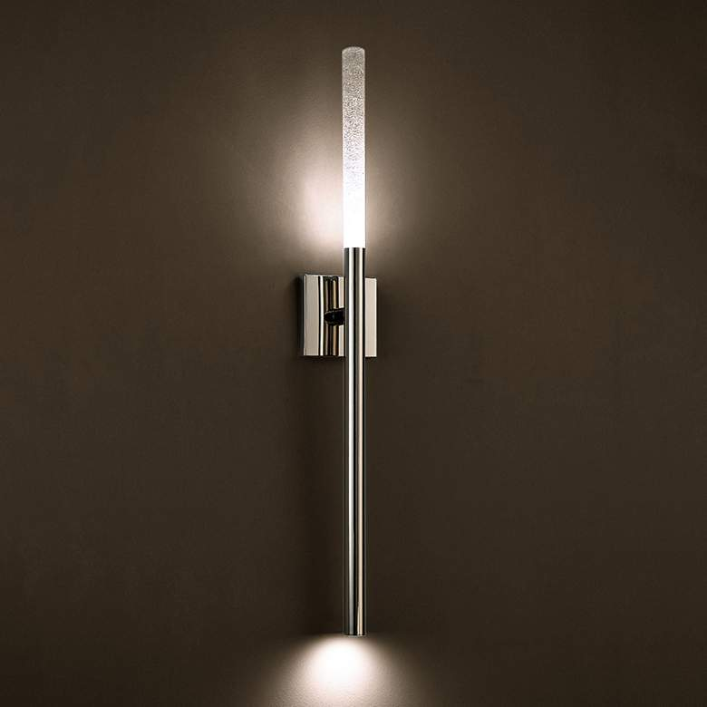 "Modern Forms Magic 32"" High Polished Nickel LED Wall Sconce more views"