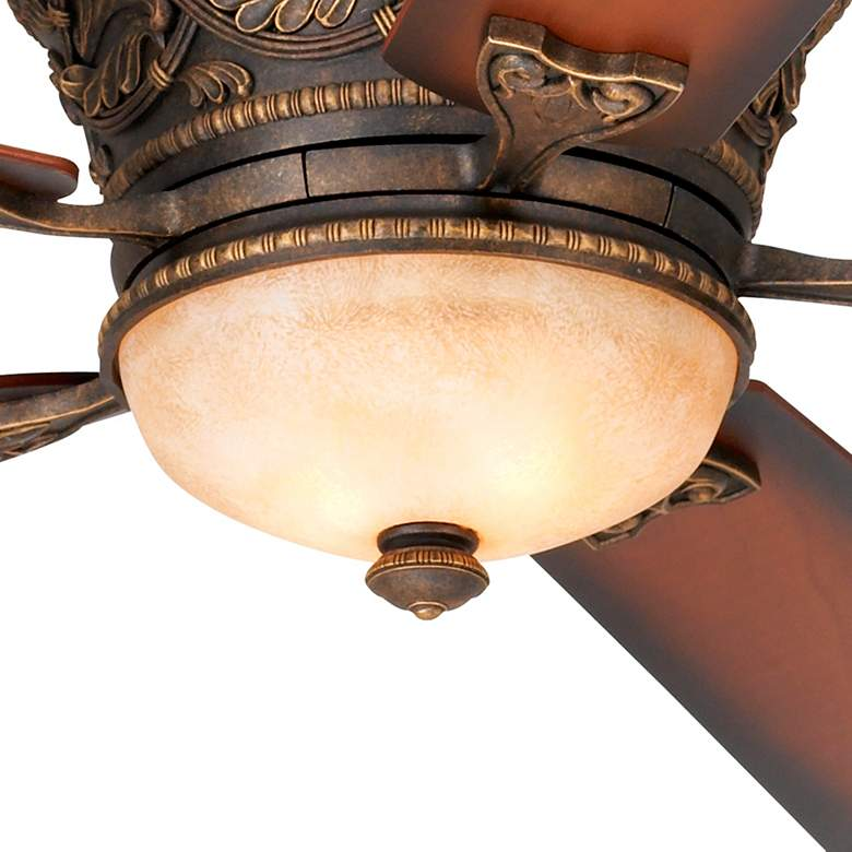 "52"" Casa Vieja Ancestry™ Bronze Hugger LED Ceiling Fan more views"