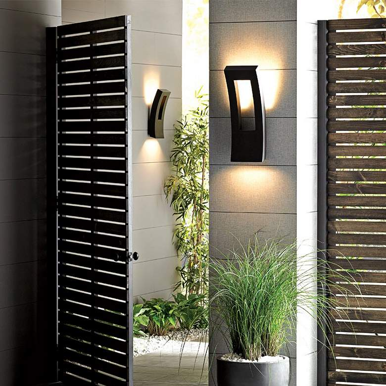 "Modern Forms Dawn 23"" High Graphite LED Outdoor Wall Light more views"