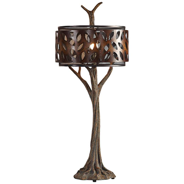 Uttermost Tremula Antiqued Metallic Gold Tree Table Lamp more views