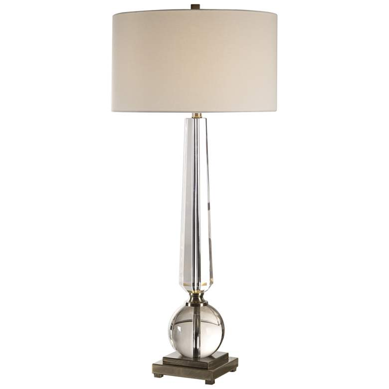 Uttermost Crista Tapered Cut Crystal Column Table Lamp more views