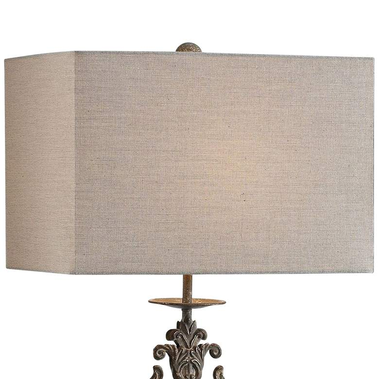 Uttermost Gerosa Distressed Aged Bronze Table Lamp more views