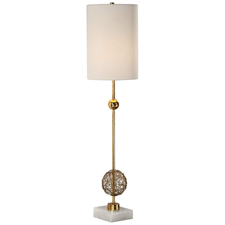 Uttermost Breckyn Metallic Antique Gold Buffet Table Lamp more views
