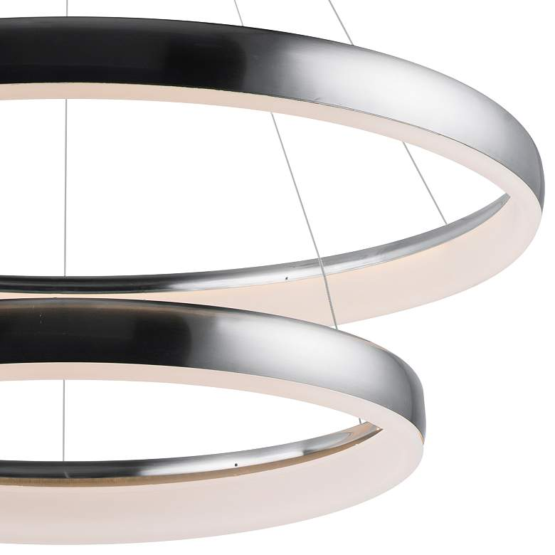 "ET2 Innertube 31 1/2"" Wide Satin Nickel 2-Ring LED Pendant more views"