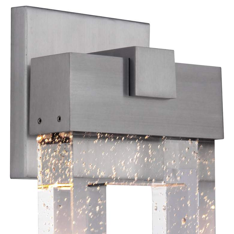 "Cantrell 20 3/4"" High Satin Aluminum LED Outdoor Wall Light more views"